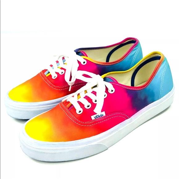 d41d8d11ffc Vans Rainbow Lace Up Skater Sneakers Tennis Shoes.  M 5b43ab0f5c4452aa60a09534